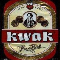 etiquette biere kwak
