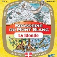 etiquette blonde du mont blanc