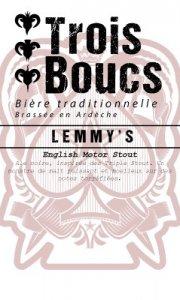 LEMMY'S noire brasserie trois boucs